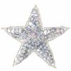 Motif Sequin/beads Star Silver Hologram 7.5cm